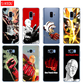 silicone case for Samsung Galaxy S9 S8 S7 S6 edge S5 S4 S3 PLUS phone cover anime One Punch Man