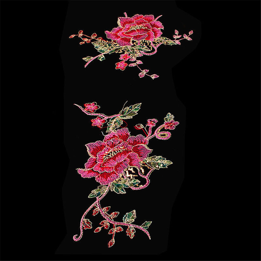 cfd89a79ffc5f US $0.76 10% OFF|20F# DIY Peacock Flower Sequins Embroidered Patches For  Clothes Applique Embroidery Flower Wedding Dress Sewing Trim Garment Dec-in  ...