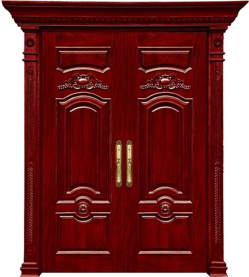 Popular wooden double door designs buy cheap wooden double for Double door wooden door