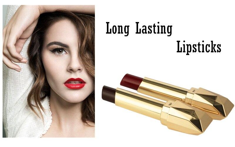 Beauty Matte Lipstick Long Lasting Cosmetics Maquiagem Women Makeup Red Batom Pigments Waterproof Lip Stick Pintalabios Mate 6