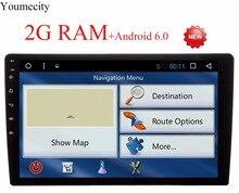 10.1 pulgadas de pantalla! Universal 2 din Android 6.0 Coches reproductor de DVD GPS + Wifi + Bluetooth + Radio + Quad Core + Capacitiva Pantalla táctil + Audio