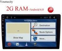 Youmecity 10 Inch 2 din Android 7.1 Auto DVD Multimedia speler GPS + Wifi + Bluetooth + Radio + Octa Core + Capacitieve Touchscreen + Audio