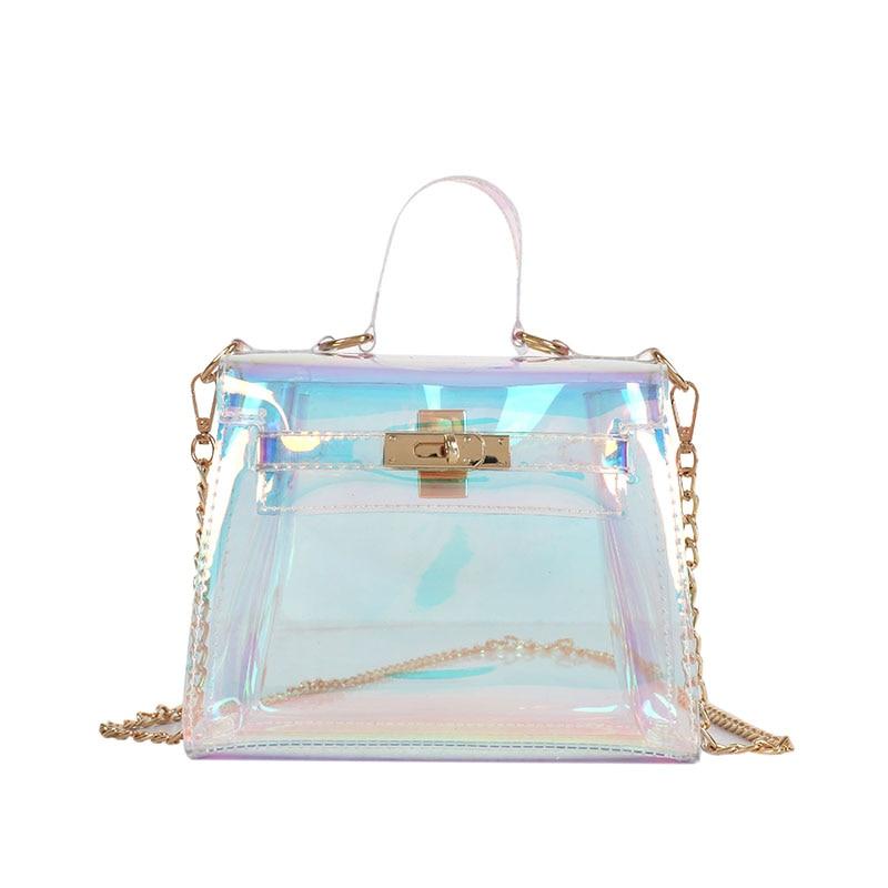 8ecd0d70b Aliexpress.com: Comprar Bolsos de mensajero láser de moda para mujer, bolsos  de hombro de plástico transparentes con gelatina, bolsos de mano  holográficos ...