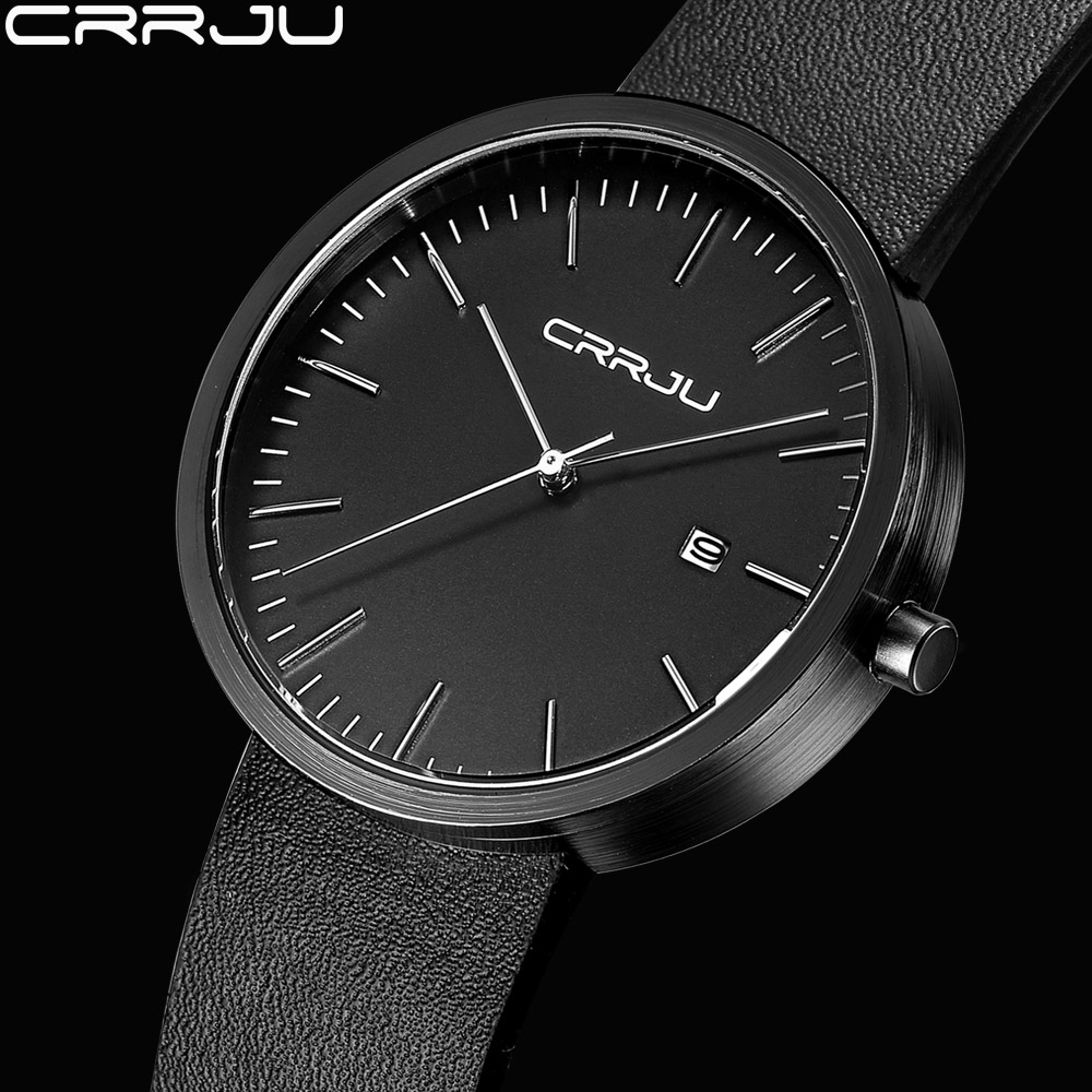 CRRJU 2017 Fashion Business Wrist Watch Men Top Brand Luxury Famous Male Clock Quartz Watch for Men Hodinky Relogio Masculino стоимость