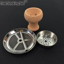 ceramic bowl  plus charcoal pot holder mesh carbon cover shisha amy mya sheesha chicha hookah accessorie