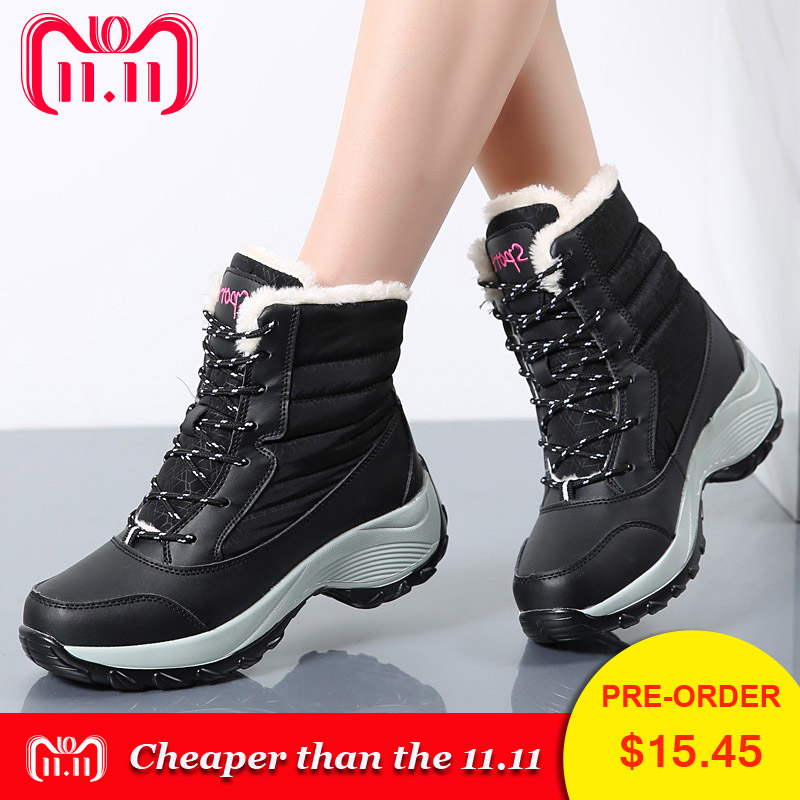 PINSEN Winter Boots Women New Arrival Fashion Brand Female Snow Boots Classic Mujer Botas Waterproof Boots For Women Size 35-41 pinsen winter boots women new arrival fashion brand female snow boots classic mujer botas waterproof boots for women size 35 41