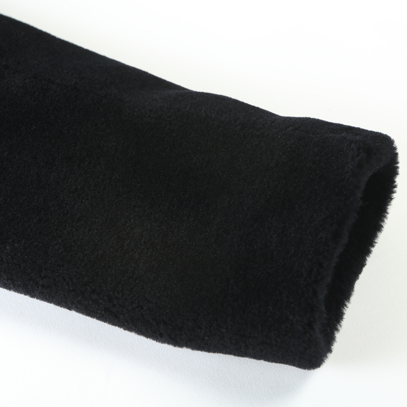 Femme Femmes Automne De Chapeau Réel Laine Manteaux Des Veste Manteau Kj995 Pour Les Moutons Black Fourrure Avec Hiver Tonte 2018 Ayunsue EqIxUZaZ
