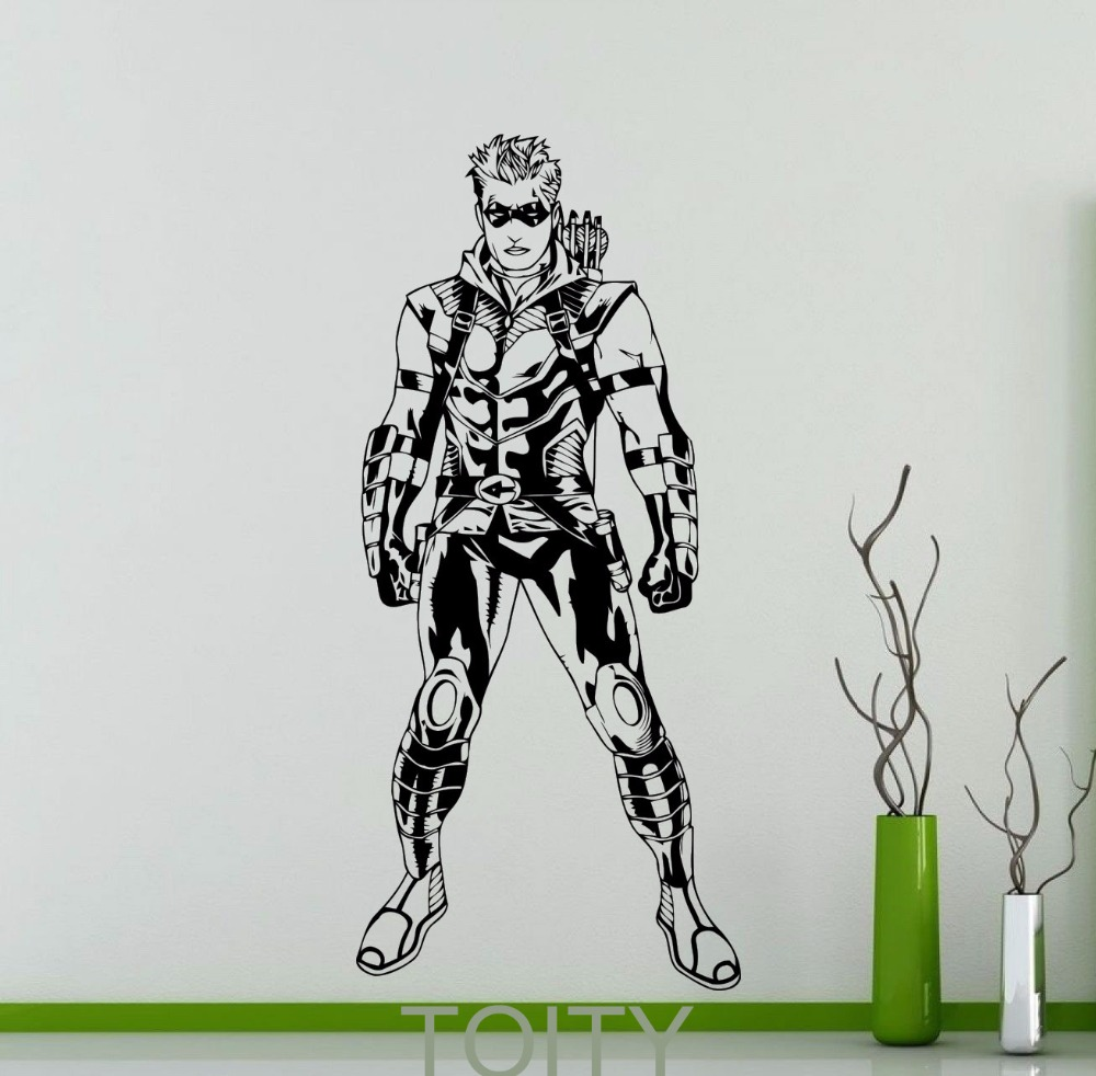 Buy green arrow poster wall art sticker - Pegatinas de pared baratas ...