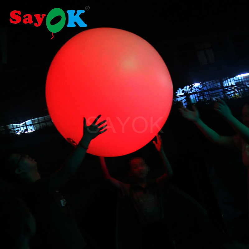 Funny Inflatable beach ball PVC Lights Ball Inflatable LED Balloon Inflatable Throwing Zygote Ball Party