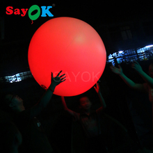 Funny Inflatable beach ball PVC Lights Ball LED Balloon Throwing Zygote Party