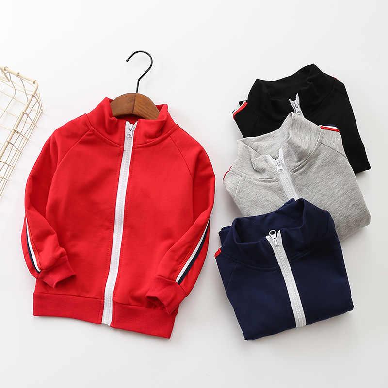 2019 nuovo di Modo Della Ragazza del Ragazzo Copre gli insiemi Bambini Abbigliamento Sportivo Estate Del Bambino A Strisce cappotto + pantaloni 2 Pcs Bambini Vestito di Cotone che coprono il vestito