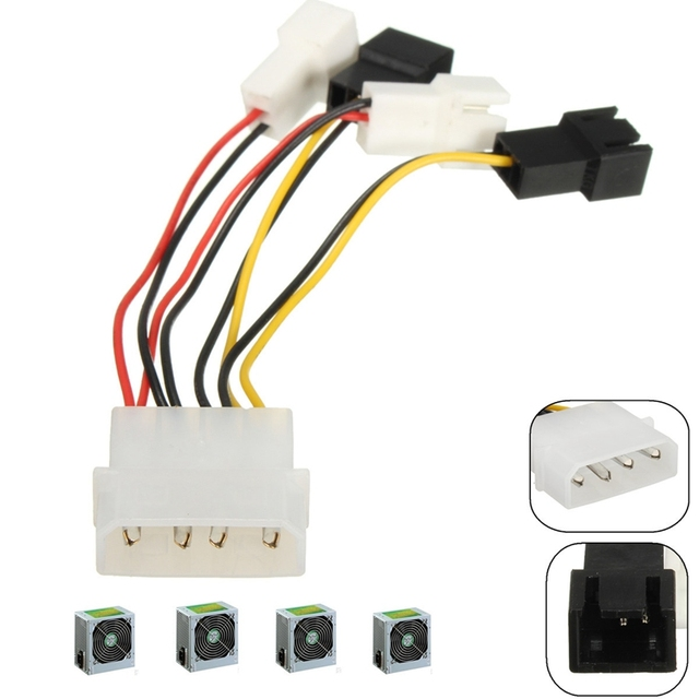 10pcs 4x 2Pin Fans to D type 4Pin Molex Power Y Splitter Cable 12v 5v For_640x640 10pcs 4x 2pin fans to d type 4pin molex power y splitter cable 12v