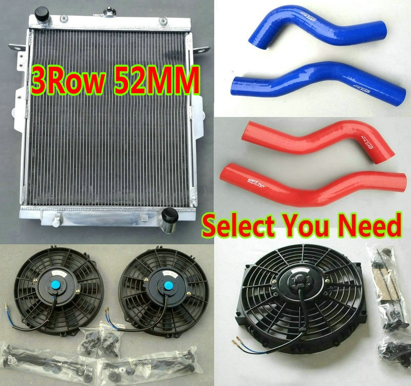 US $175 0 |Aluminum Radiator + Silicone Hose FANS for Toyota Land Cruiser  J70 HDJ78 HDJ79 HZJ78 HZJ79 1HZ 4 2L TD Turbo Pickup SUV Cab Ute-in Oil