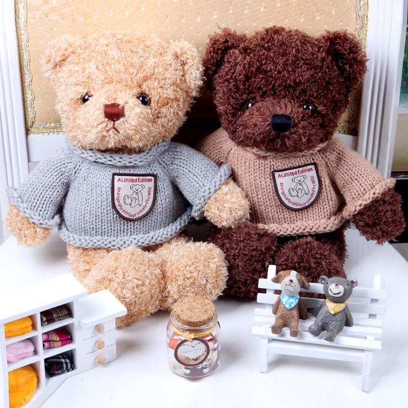 2015 New Arrival Recording Teddy Bear Plush Stuffed Toys 30CM Cotton Material Korean Lovers Teddy Bear Gift  baby boy toys 1 piece light brown high quality low price stuffed plush toys large size100cm teddy bear 1m big bear doll lovers birthday gift