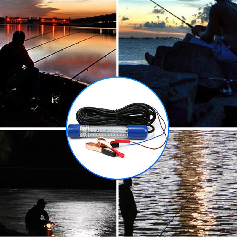 Image 5 - 1 Pcs LED Blue Shell Underwater Fishing Lamp Night Fishing Light Dock Decorative Light 12 24V-in Marine Hardware from Automobiles & Motorcycles