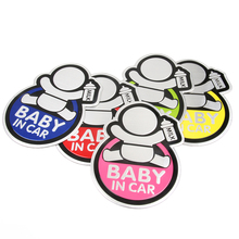 Baby IN CAR Warning Decal 3D Sticker Reflective Waterproof Car Stickers For Mazda Ford Chevrolet Cruze Kia Skoda Audi BMW VW  стоимость