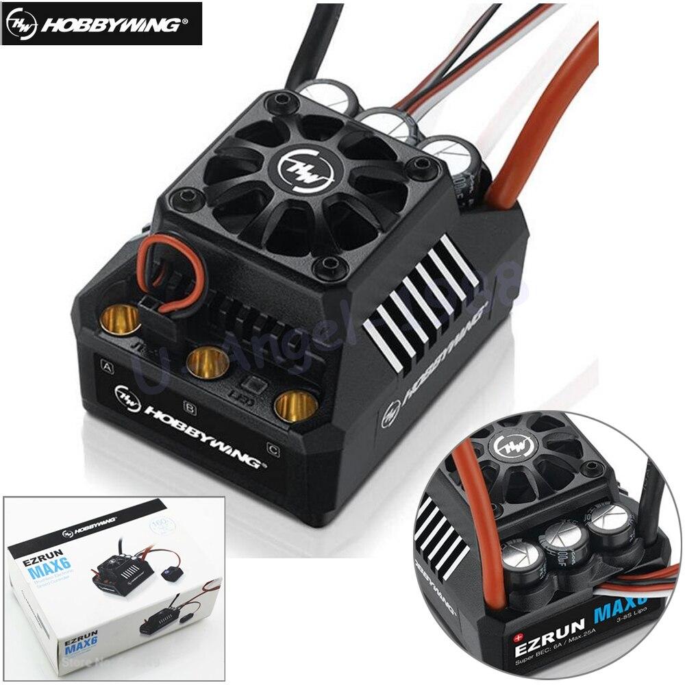 Hobbywing EZRUN MAX-6 V3 160A Speed Controller ESC W/ Super BEC T Plug For 1/6 Car HPI