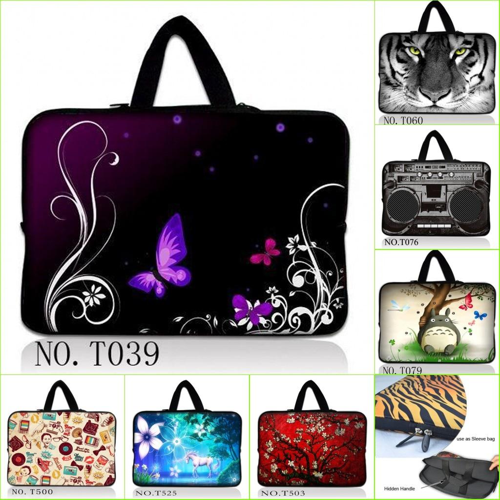 "Brave Hot Beauty Butterfly Pattern Laptop Sleeve Bag Case 15"" 15.4"" 15.6"" 10"" 12"" 13"" 17"" 17.4"" 14"" Tablet Pc Notebook Women Handbag Finely Processed"