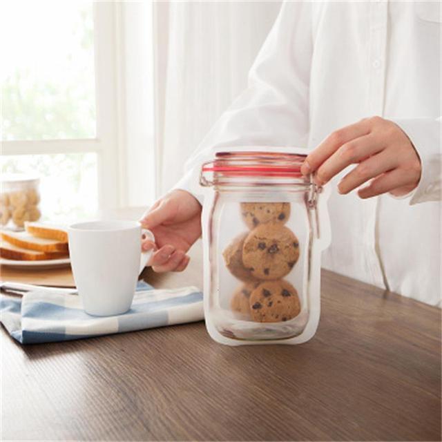 3or4 Pcs/set Composite Material Food Preservation Storage Bag Biscuit Snack Food Supplement Food Zipper Seal Small Ware