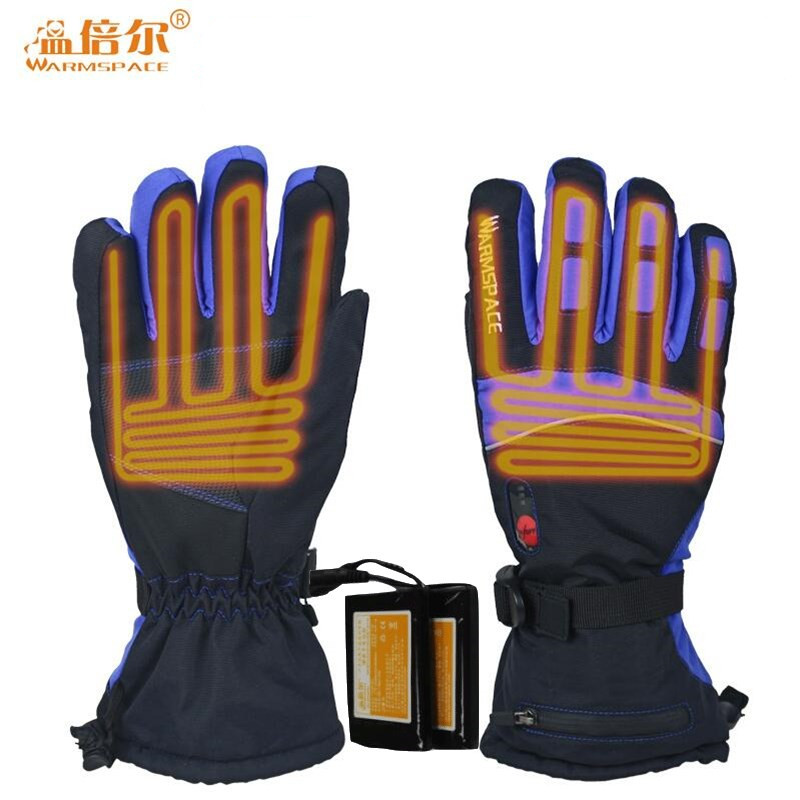 Smart Electric Heated Gloves Touch Screen Ski Gloves Battery Powered Self Heating 3M Waterproof Motorcycle Racing Riding Guantes