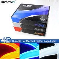 KAMMURI Car Styling 4D Cold light Rear Badge Bulb Emblem Logo Light for Mazda 2 / 3 / 6 / 8 Mazda CX7 LED Rear Badge Logo Light