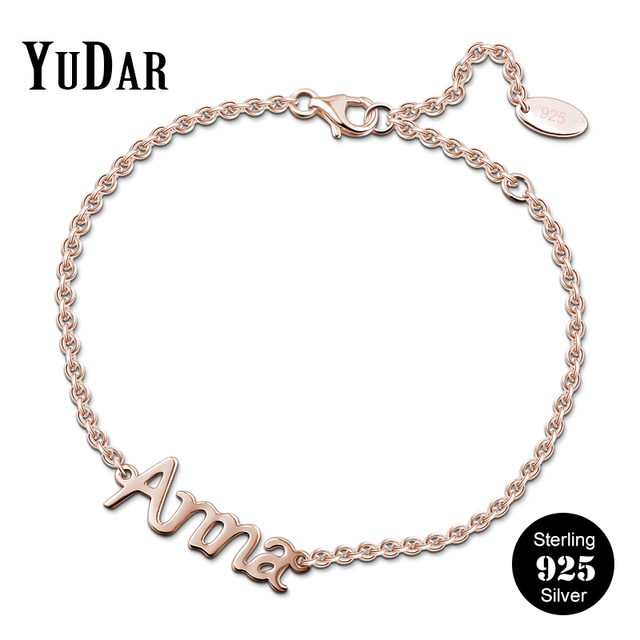925 Sterling Silver Personalized Name Bracelet Hot Ing Customized Bracelets Gifts For Family Friends S