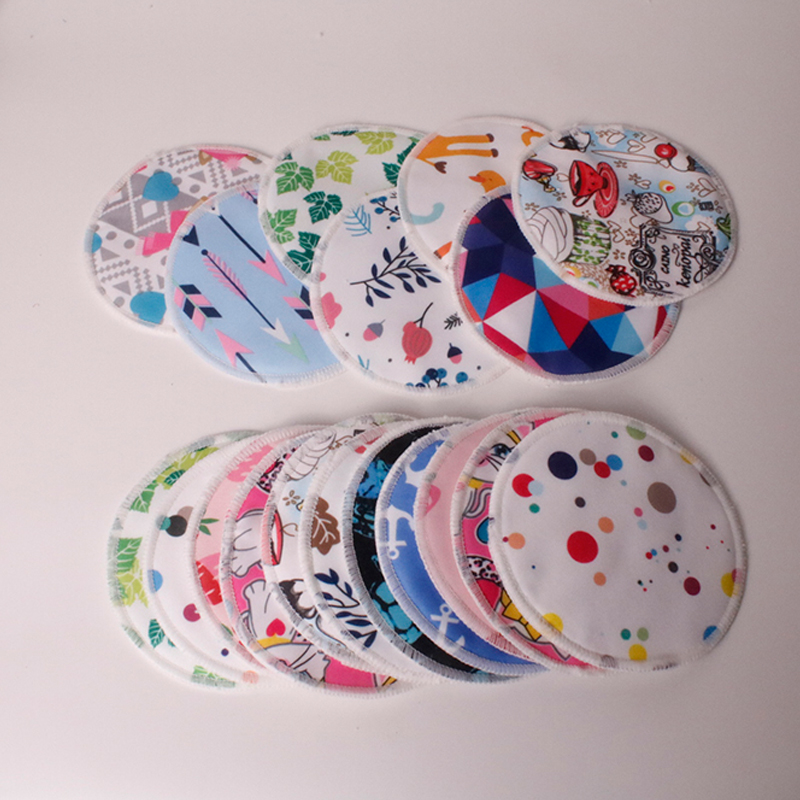 Oususunbaby 24pcs/lot Reusable Bamboo Breast Pads Organic Bamboo Breast Pad Nursing Pads Waterproof Washable Feeding Pad For Mum