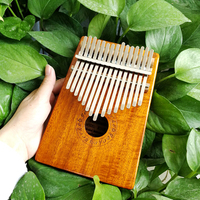 Gecko K15K 15 key Kalimba Solid KOA African Thumb Piano Finger Percussion Keyboard Kids Natural
