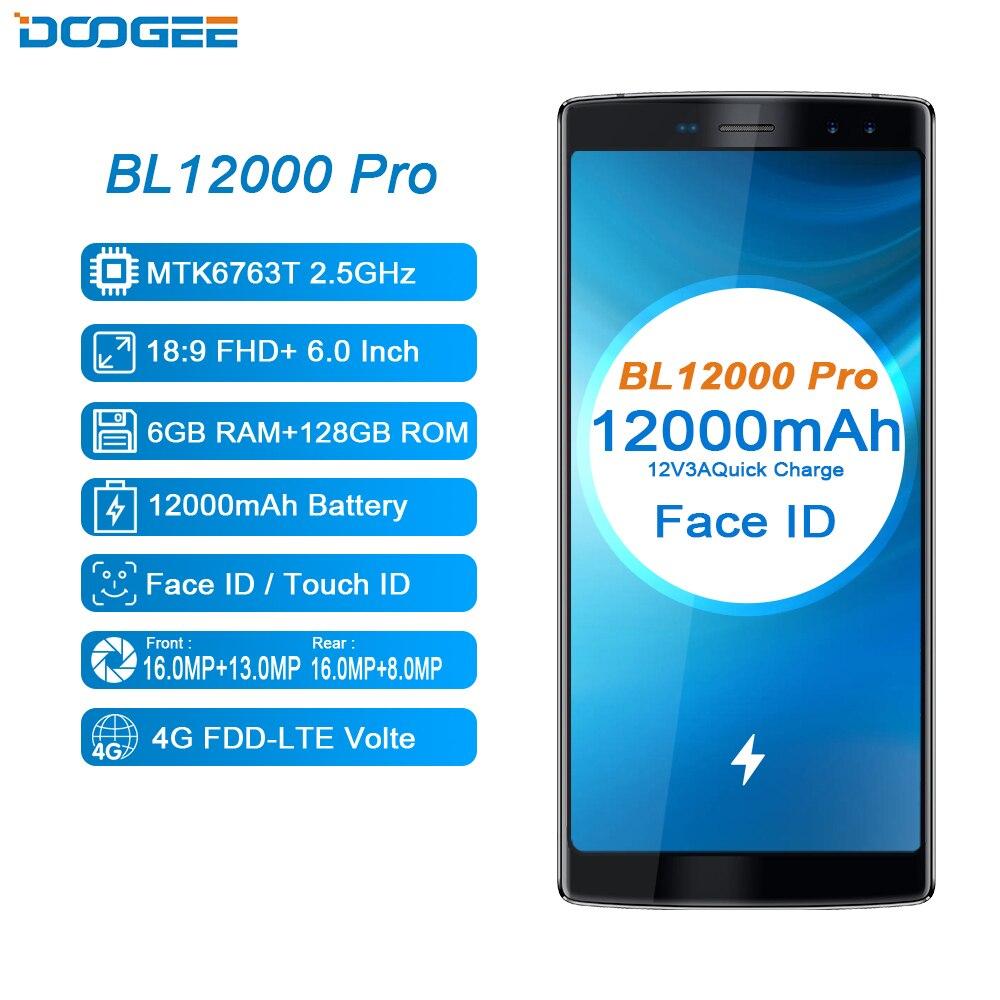 DOOGEE BL12000 Pro Telefon 12000 mah MTK6763T 6 gb + 128 gb Quad Kamera 16,0 + 13,0 megapixel Android 7.1 Quad kamera 16,0 + 13,0 megapixel 6,0 zoll Telefon