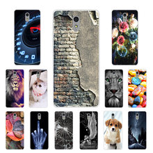 Soft TPU for Lenovo Vibe P1M Transparent Silicone Dog Cat Phone Case Cover for Lenovo P1ma40 Slim Phone Protection Shell Coque(China)