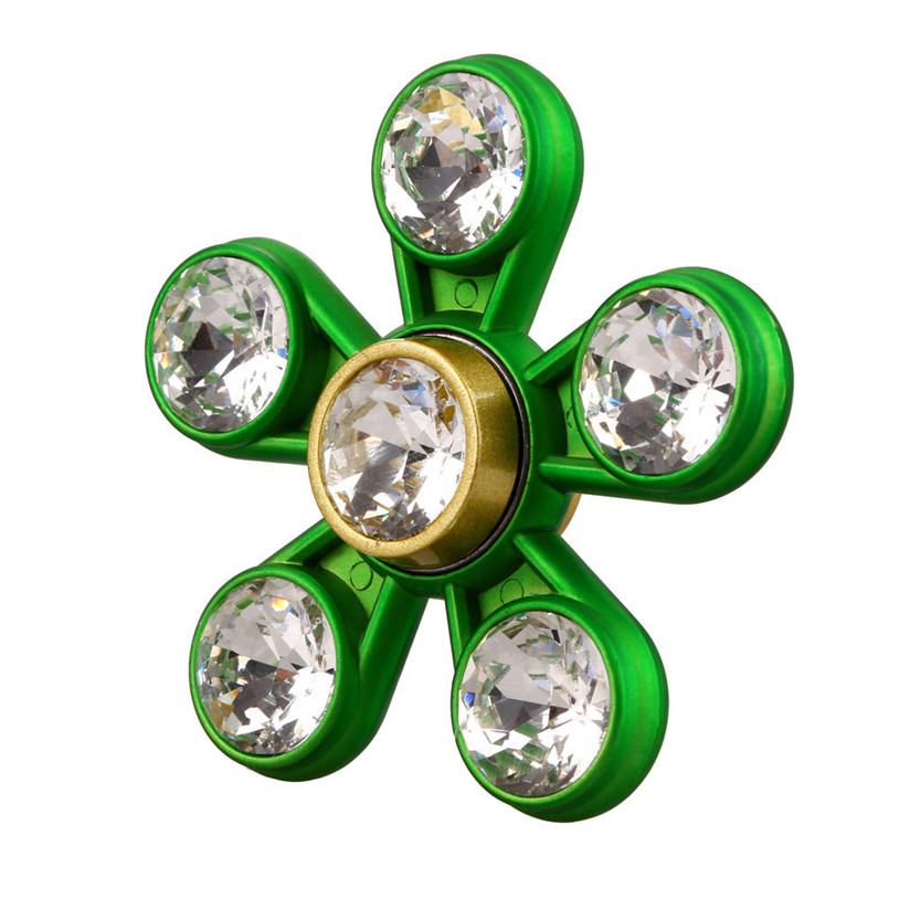 2017 New Hand Spinner Hand Tri Spinner Focus Artificial Diamond Toys Fidget Austism ADHD Education Learning