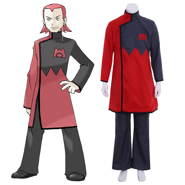 Cosplaydiy Anime Pocket Monsters Maxie Cosplay Costume Pokemon Magma Leader Cosplay Costume Any Size L320