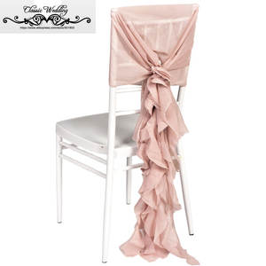 ruffle chair sashes braided pads top 10 largest sash with list jr wedding 100 pcs pink chiavari cover