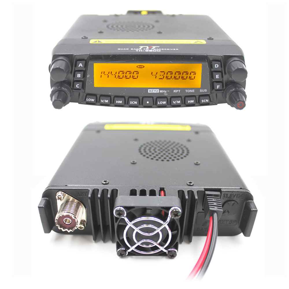 Image 4 - 1901A TYT TH9800 TH 9800 Mobile Transceiver Automotive Radio Station 50W Repeater Scrambler Quad Band V/UHF Car Truck Radio-in Walkie Talkie from Cellphones & Telecommunications