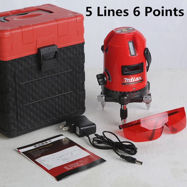 XEAST 5 Lines 6 Points Laser Level 360 Rotary Cross Lazer Line Leveling with tilt function laser cast line instrument marking device 5 lines the laser level