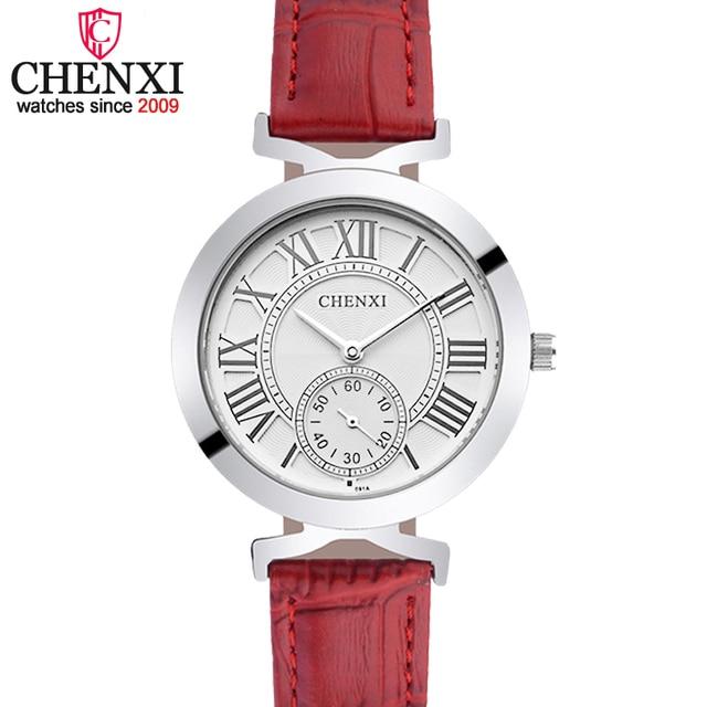 65857bda3bd CHENXI Moda Lady Rose Gold Relógio De Pulso Das Mulheres Famosa Marca de Ouro  Relógios de