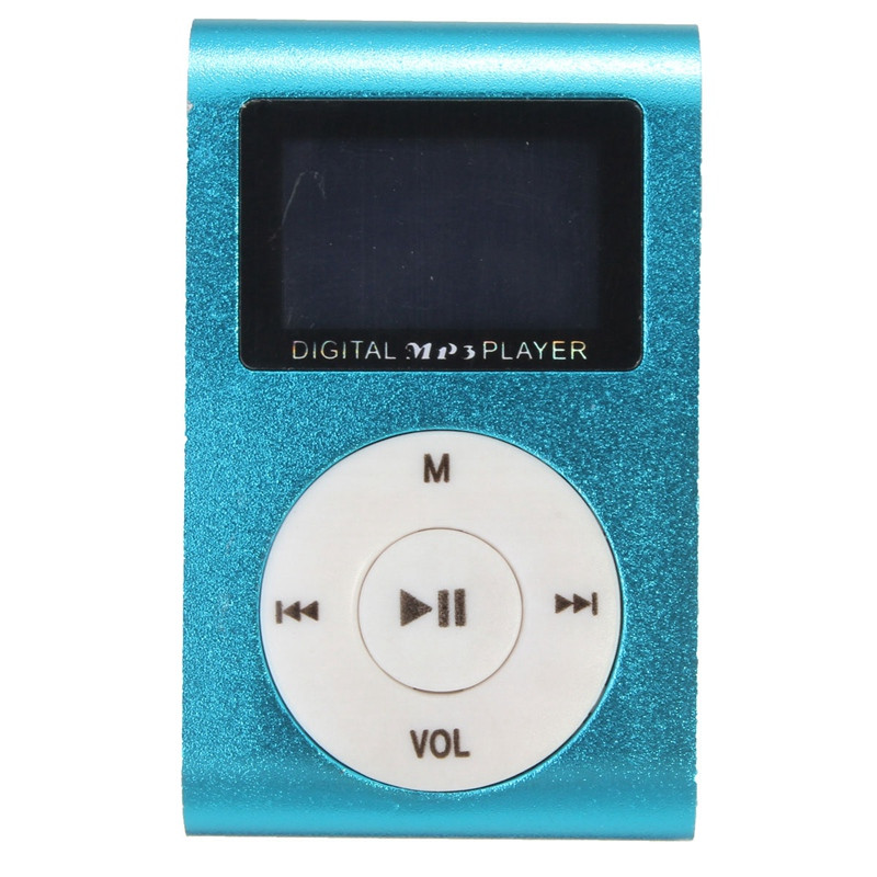 Music Media Pocket-Sports Flash Drive Mini Clip MP3 Player LCD Screen Support 32GB Micro SD TF Card Radio Reader Colors USB