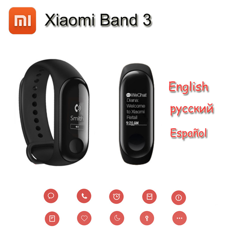 "New Original Xiaomi Mi Band 3 Fitness Tracker Smart Bracelet 0.78"" OLED Touch Screen 50M Waterproof Miband 3 Smart Wristband-in Smart Wristbands from Consumer Electronics on AliExpress - 11.11_Double 11_Singles' Day 1"