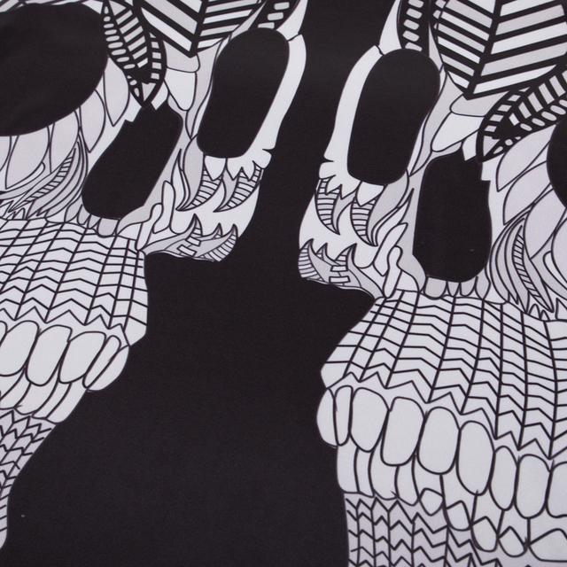 MASCUBE 3D Running T shirt Skull Print Black Compression Shirts Men Harajuku Short Sleeve Tee Shirts Male Clothing S-4XL
