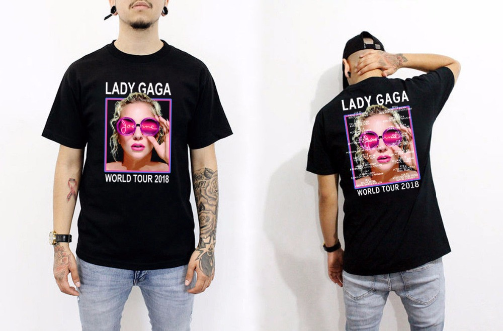 Make T Shirts MenS Short Sleeve Fashion 2018 Crew Neck Lady Gaga Music Tee Shirts