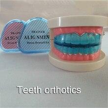 Утилита Зубной Синий Силиконовые Стоматологической Помощи Невидимый Ортодонтическое Брекеты Зуб-Правильный Тренер Выравнивания Подтяжки Для Зубов Прямо
