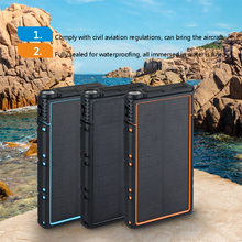 30000mAh Multifunction Solar Waterproof and fallproof Power Bank Portable External Battery External Battery Pack