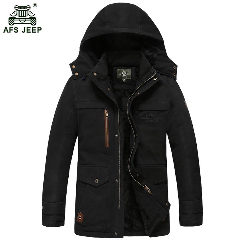 Brand men winter jacket men warm thick fleece branded