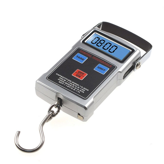Multifunction 50kg 20g Portable Lcd Electronic Digital Hanging Luggage Pocket Travel Weight Hook Weighing Scale