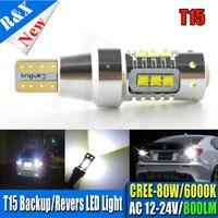 2X High Power T15 912 921 W16W LED 80 Wát CANBUS 900LM C'ree Chip 16XBD Bulbs Đối Với Xe Tín Hiệu Đỗ Xe Ánh Sáng Sao Lưu Xếp đèn
