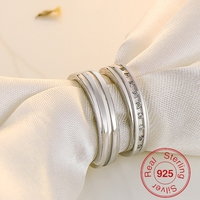 BeBe Kitty 2018 Fashion Jewelry Rings 925 Sterling Silver Party Ring Frosted Couple Ring For Men and Women