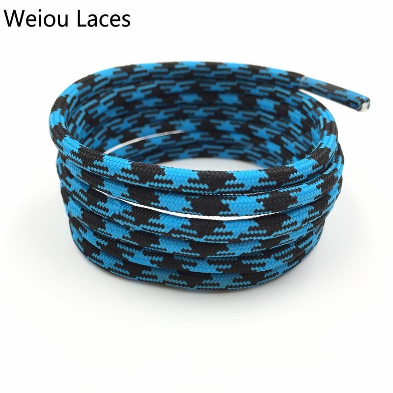 Weiou Schwarz Blau Wandern Schnürsenkel Gehen Zwei Getönten Seil - Schuhzubehör - Foto 3