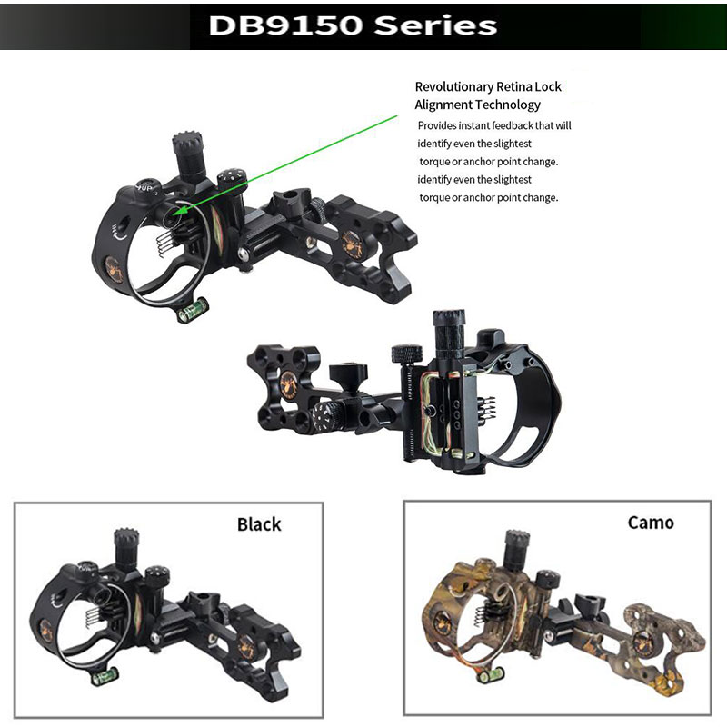 Image 2 - Archery Compound Bow Sight DB Series Retina Micro Adjust Sight 0.019 Fiber Optic 5 pins /7 pins Hunting Shooting Accessories-in Bow & Arrow from Sports & Entertainment