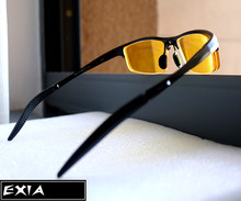 Sunglasses Men Yellow Lenses Night Viison Polarized HMC Prescription RX Sun Glasses EXIA OPTICAL KD-320 Series