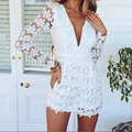 New Fashion Ladys Girl Love Long Sleeve Lace Flower Jumpsuits Stylish Fashionable party Gift For Women Girl